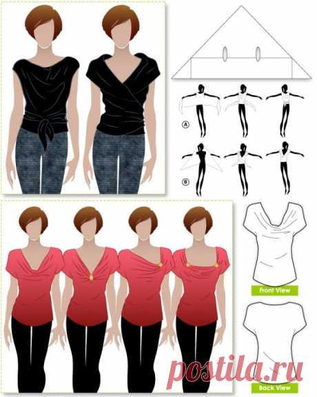 Просто топы / Простые выкройки / Модный сайт о стильной переделке одежды и интерьера