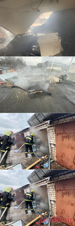 В Минске на пожаре в гараже плиты перекрытия обрушились на машины - grodno24.ru