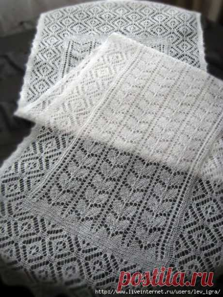 Темы на Осинке Шетландские кружева Оренбургский платок.