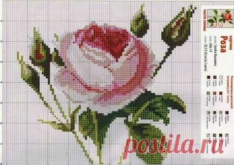 Я в восторге от этих простых схем вышивки роз при вязании спицами! | ВДОХНОВЕНИЕ РУКОДЕЛЬНИЦЫ | Яндекс Дзен