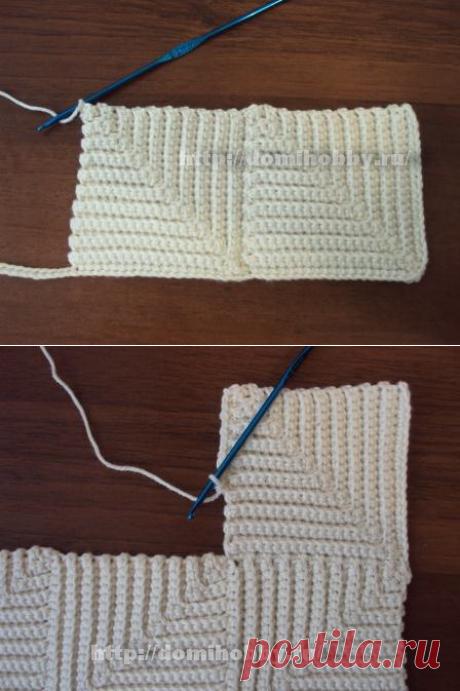 Вязание крючком. Юбка в технике пэчворк.