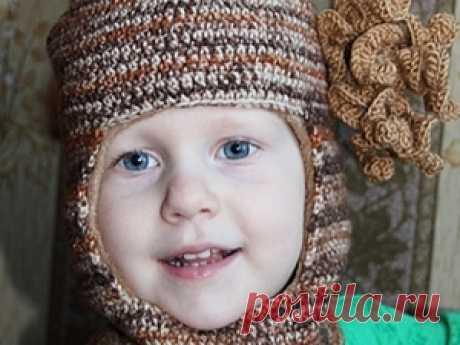Зимняя шапка-шлем с кисточкой – мастер-класс для начинающих и профессионалов Зимняя шапка-шлем с кисточкой – бесплатный мастер-класс по теме: Вязание крючком ✓Пошагово ✓С фото ✓Материалы: флис,иголка,утюг,нитки х-б