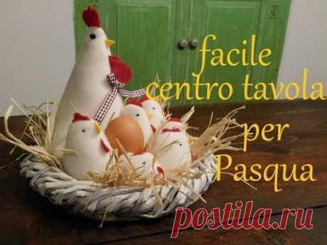 """Centrotavola """"gallinella con i pulcini"""" per il giorno di Pasqua  ( country style )"""