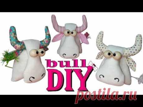 DIY символ 2021 года из ткани / Как сшить бычка своими руками
