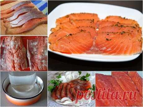 Рецепт малосольной горбуши Приготовленная по этому рецепту красная рыба получается очень вкусной и нежной. Для приготовления малосольной рыбы возьмите 1,5 свежей или размороженной горбуши. Филируйте, удалите косточки и порежьте порционно. Равномерно посыпьте двумя столовыми ложками соли и одной столовой ложкой сахара. Слегка сбрызните подсолнечным или оливковым маслом (на это количество нужно около 1 столовой ложки). Положите кусочки горбуши друг на друга (солью и сахаром ...