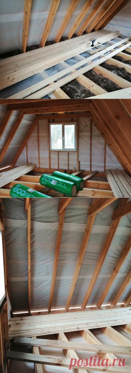 Сохраняем тепло в деревянном доме - современное недорогое утепление пола и потолка | Даня на даче: строю и показываю! | Яндекс Дзен