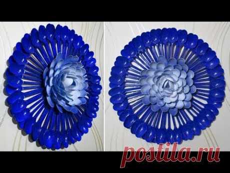 Идея декора своими руками из пластиковых ложек