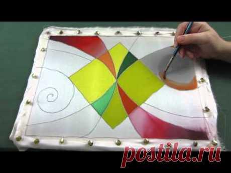 Холодный батик мастер класс. Роспись шелковой ткани акриловыми и парозакрепляемыми красками по шёлку