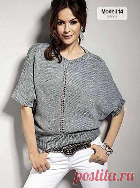 Модный пуловер из Lana Grossa!.