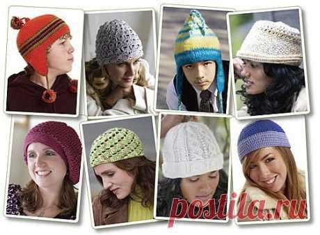 Вязаные шапочки крючком от Crochetme.com..