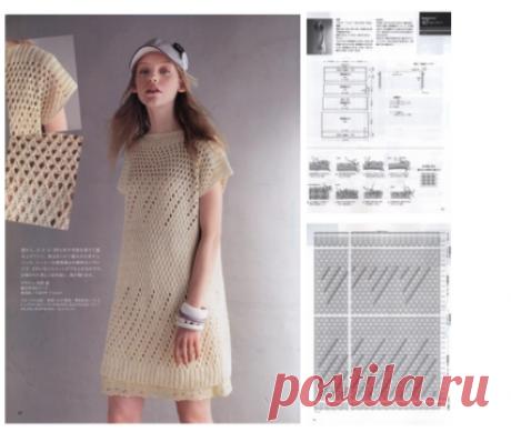 #платье #спицы | Японские журналы по вязанию