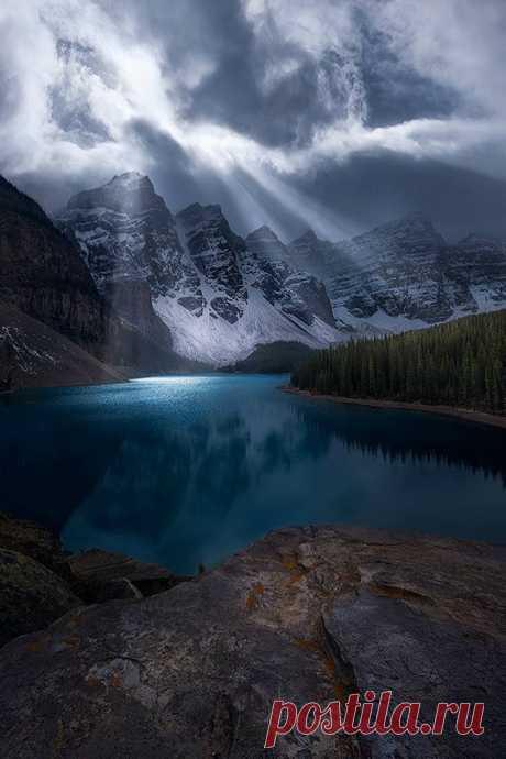 Enantiodromija   Moraine Lake in Banff by tedgorephotography/