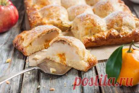 Яблочный пирог в хрустящем творожном тесте - Простые рецепты Овкусе.ру