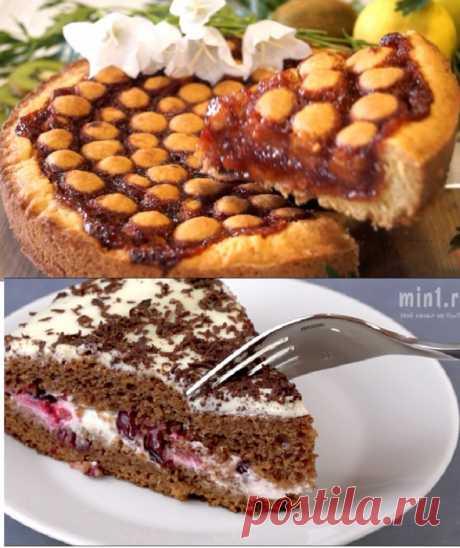 Два рецепта вкуснейших нежнейших фруктовых пирога и торта.