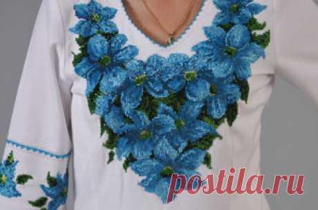 Вышивка узоров на одежде бисером: приёмы шитья, орнаменты для платья, виды швов и узоров