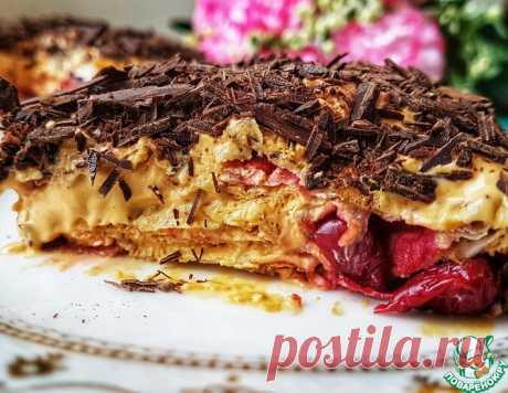 Торт без выпечки Вишнёвое блаженство – кулинарный рецепт
