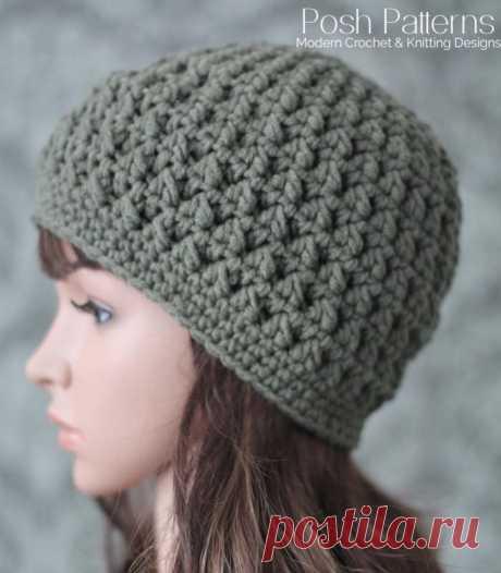 Crochet PATTERN - Textured Crochet Hat Pattern - Beanie