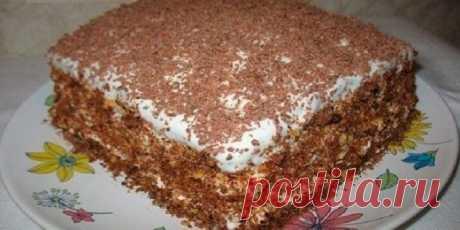 Шедевр кулинарии! Восхитительный торт «Мечта жизни». Подготовила всё за 10 минут и отправила в духовку!