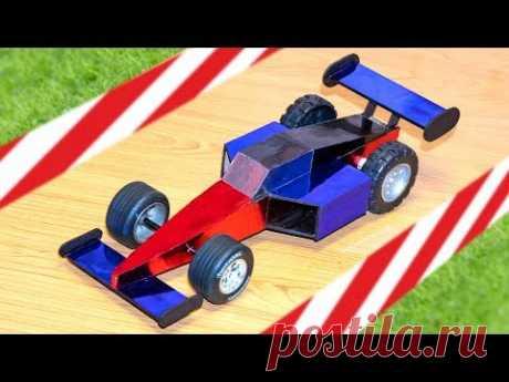 Гоночная машина Формула 1. Как сделать своими руками - YouTube