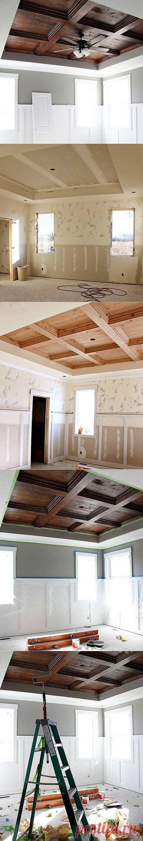 (+1) тема - Как сделать деревянный потолок своими руками | СДЕЛАЙ САМ!