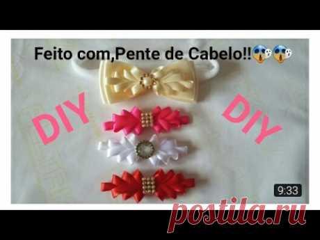 DIY:Faixinha de Bebê Fofura!!🎀🎀(Feita com,Pente de cabelo)| Elessandra Monteiro Lelê Baby V:08