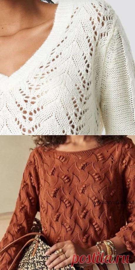 Подборка пуловеров спицами на весну!❤   Копилка узоров (Вязание спицами)   Яндекс Дзен