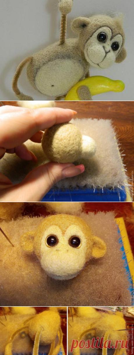 Валяем симпатичную обезьянку — символ 2016 года - Ярмарка Мастеров - ручная работа, handmade