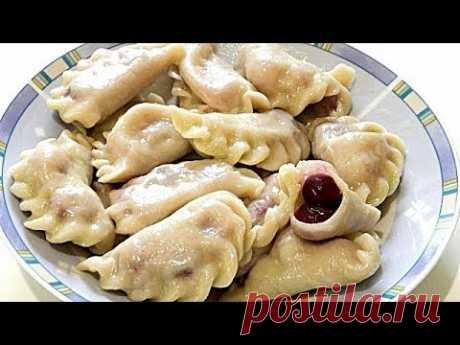Вареники с вишней на заварном тесте/ Cherry dumplings on custard dough