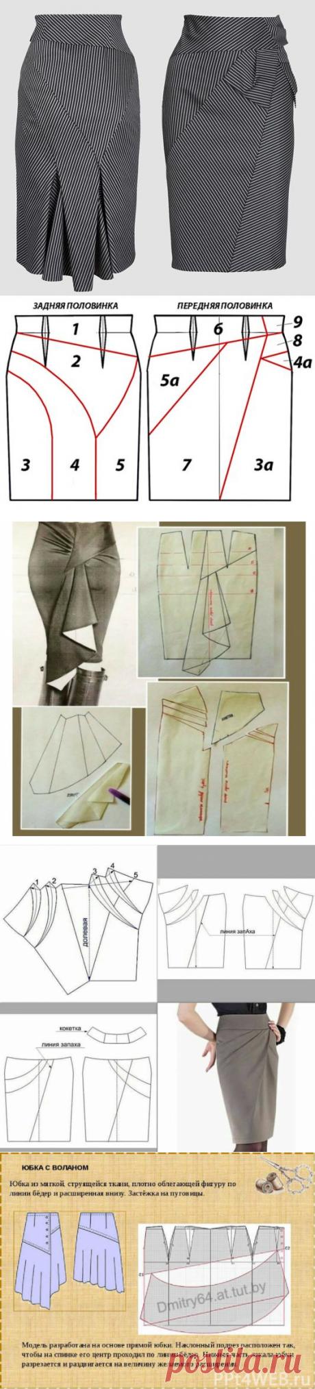 Моделирование юбок сложных фасонов