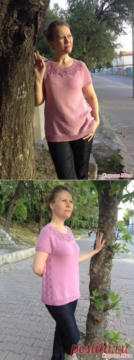 """Топ """"Mонин""""от Наталии Radegast в моем исполнении - Вязание - Страна Мам"""
