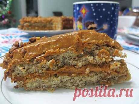 Быстрый ореховый тортик