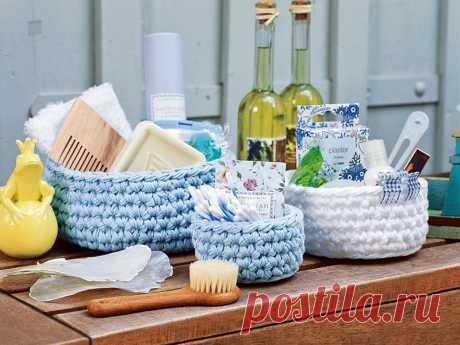 Las cestitas para las bagatelas - el esquema de la labor de punto por el gancho. Tejemos los Canastillos en Verena.ru
