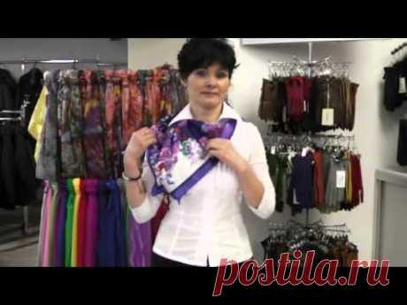 Los modos zavyazyvaniya de las bufandas y los pañuelos