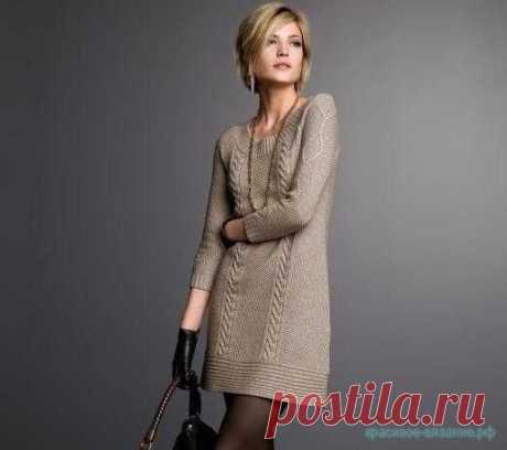 Как связать платье спицами — Красивое вязание
