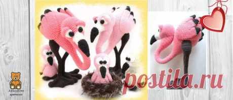 Семья фламинго крючком: схема | Амигуруми крючком - Блог