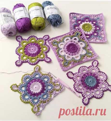 Crochet Square Lace Motif – DIYFASHIONHUB