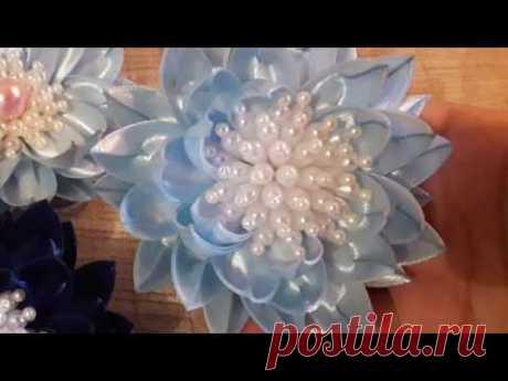 Серединки для цветов канзаши  и не только  из бусин в виде капельки ✔ Marine DIY Guloyan✔
