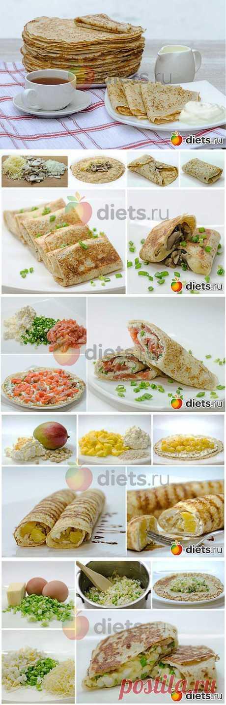 Парад начинок для блинов. Вкусная коллекция: Здоровое питание - diets.ru