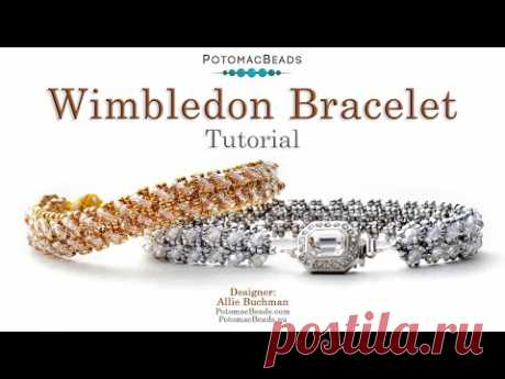 Wimbledon Bracelet - DIY Jewelry Making Tutorial by PotomacBeads
