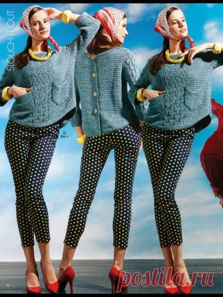 Vogue Knitting Early Fall 2014 - Джемпер с застежкой на спинке 23 - Вернисаж на Вяжи.ру