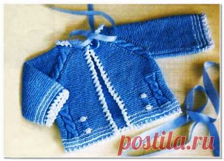 Вязание для новорожденных кофточки