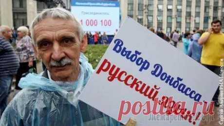 В ДНР признали русский язык единственным государственным