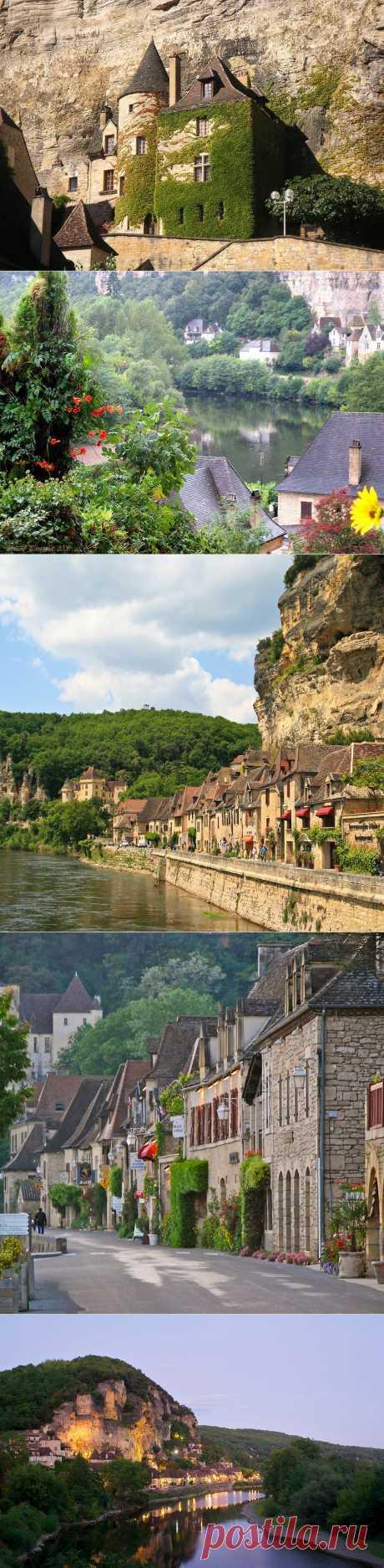 Village of La Roque Gageac (Rock Gazhak). France.