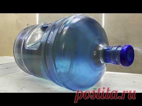 Как я это вообще придумал! Отличная идея из бутыля от воды.