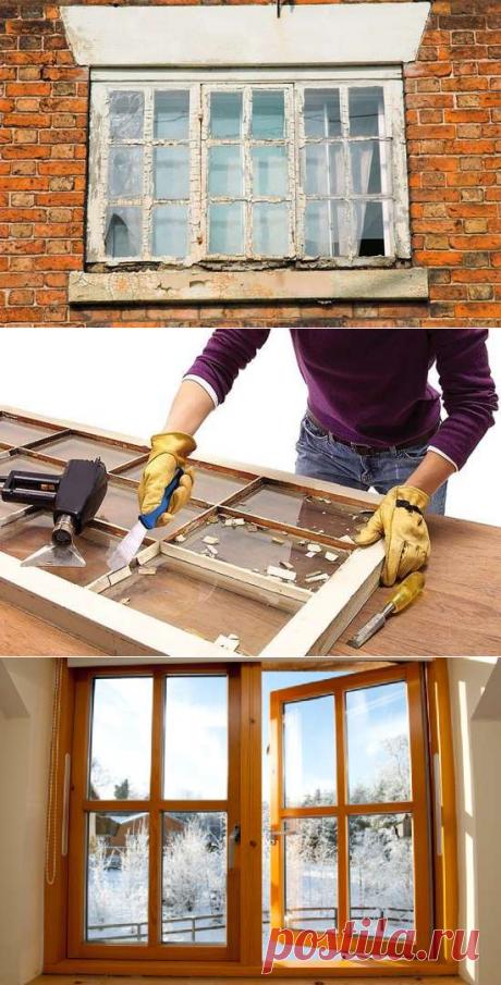 Реставрация деревянных окон шаг за шагом