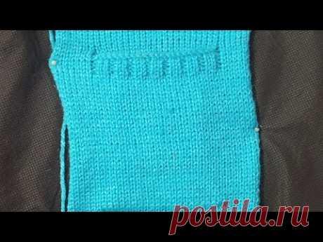 Easy Pocket design in knitting machine (निटिंग मशीन में आसन  जेब का डिजाइन )
