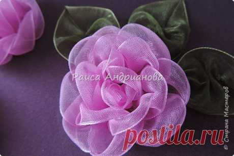 Цветы из органзы(вышивка лентами). Часть1 | Страна Мастеров