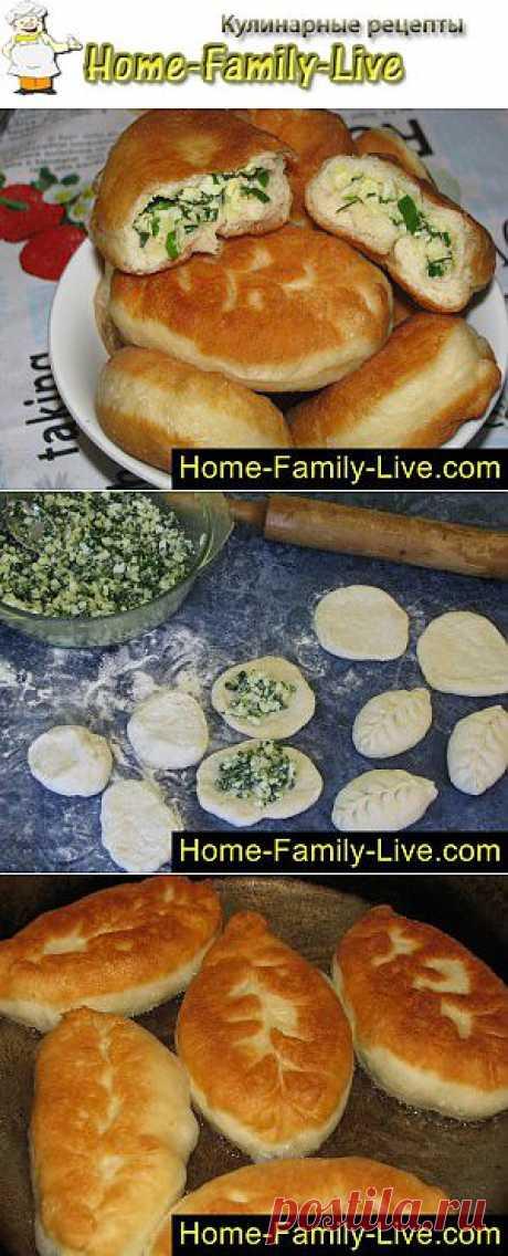 Пирожки с луком и яйцом - пошаговый фоторецепт - жаренные пирожки с лу | Кулинарные рецепты
