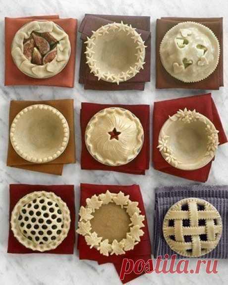 Простые способы красивого оформления пирогов