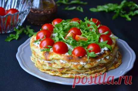 Закусочный тортик из кабачков — Фактор Вкуса